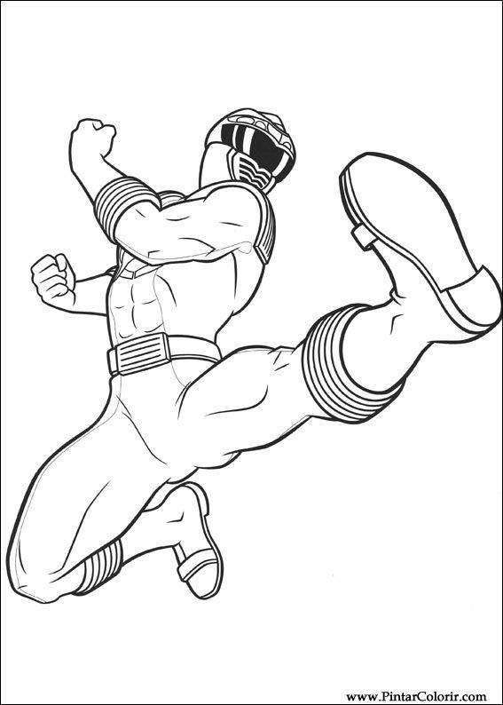Desenhos Para Pintar E Colorir Power Rangers Imprimir Desenho 011