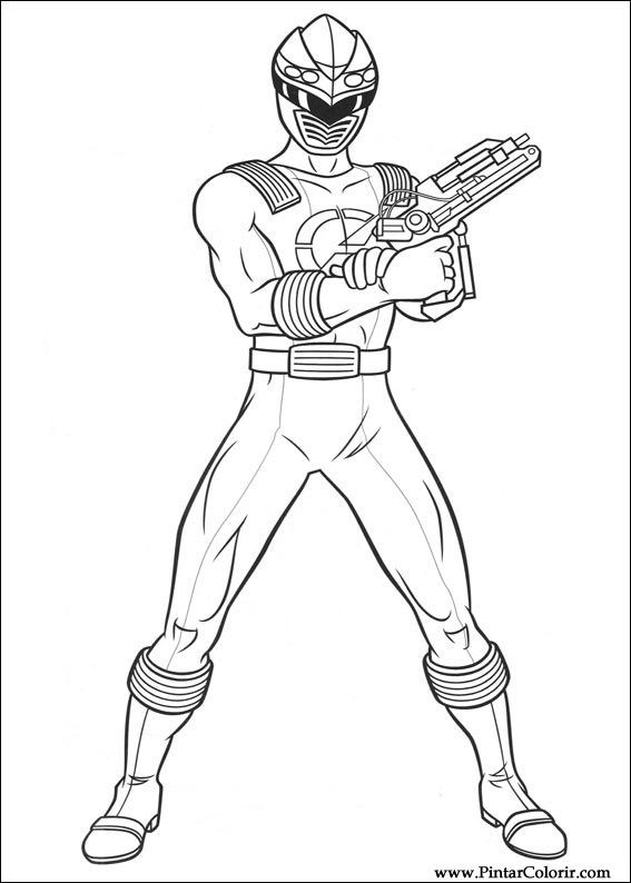 drawings to paint colour power rangers print design 017