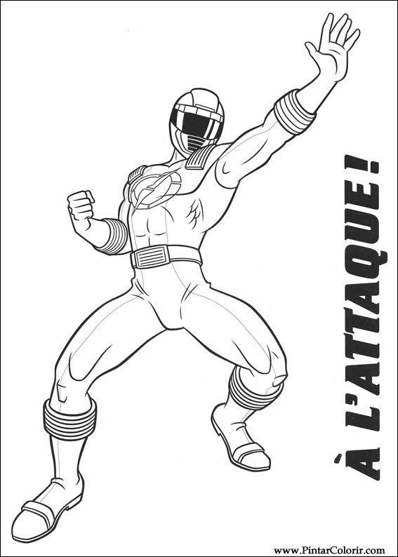 Desenhos Para Pintar E Colorir Power Rangers Imprimir Desenho 018
