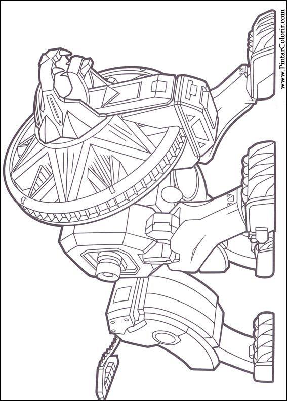 Dibujos Para Pintar Y Color Power Rangers Diseño De Impresión 019