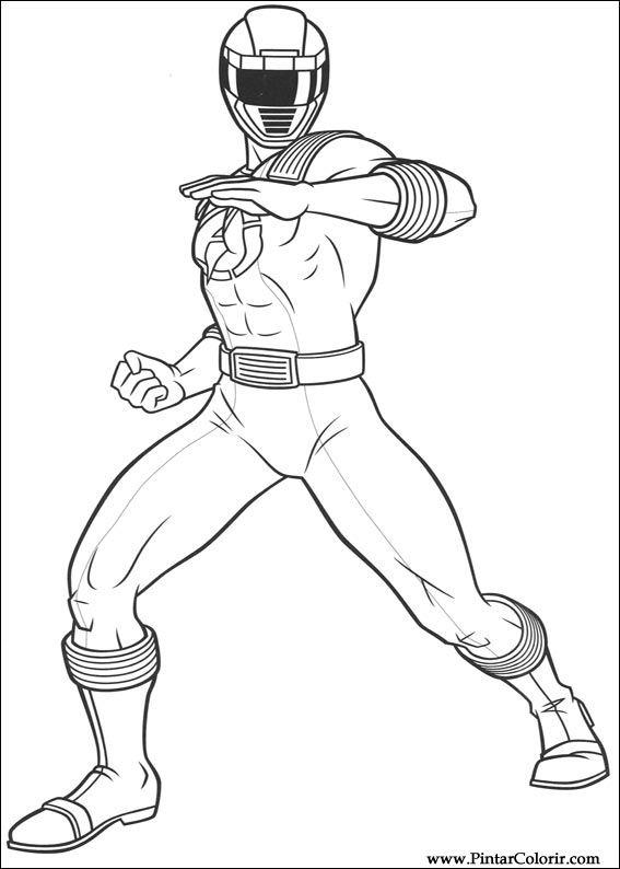 Desenhos Para Pintar E Colorir Power Rangers Imprimir Desenho 020