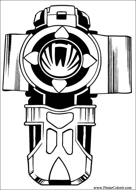 çizimler Boya Ve Renk Power Rangers Için Baskı Tasarım 035