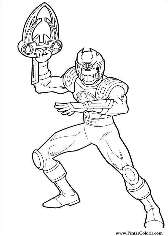 Drawings To Paint Colour Power Rangers Print Design 036