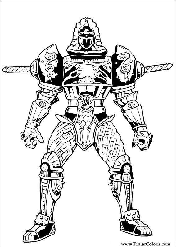 Desenhos Para Pintar E Colorir Power Rangers Imprimir Desenho 037