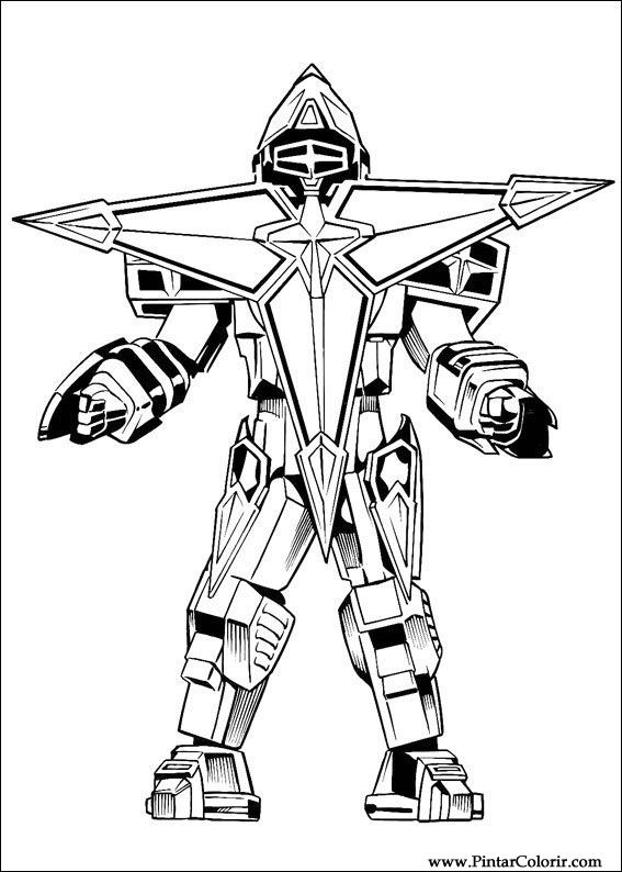 desenhos para pintar e colorir power rangers imprimir desenho 043
