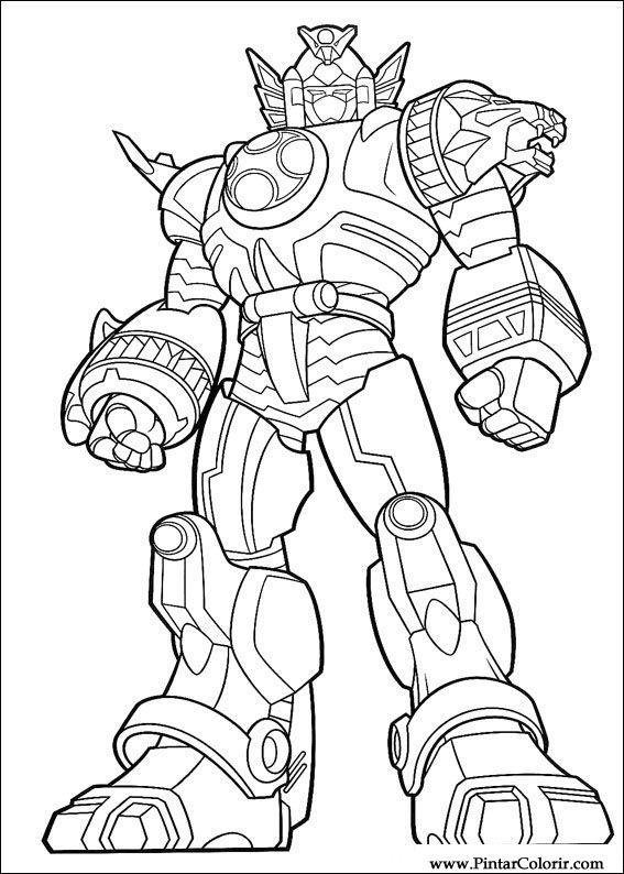 Jogos De Colorir Os Power Rangers Az Dibujos Para Colorear