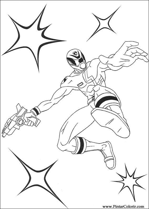 Desenhos Para Pintar E Colorir Power Rangers Imprimir Desenho 061