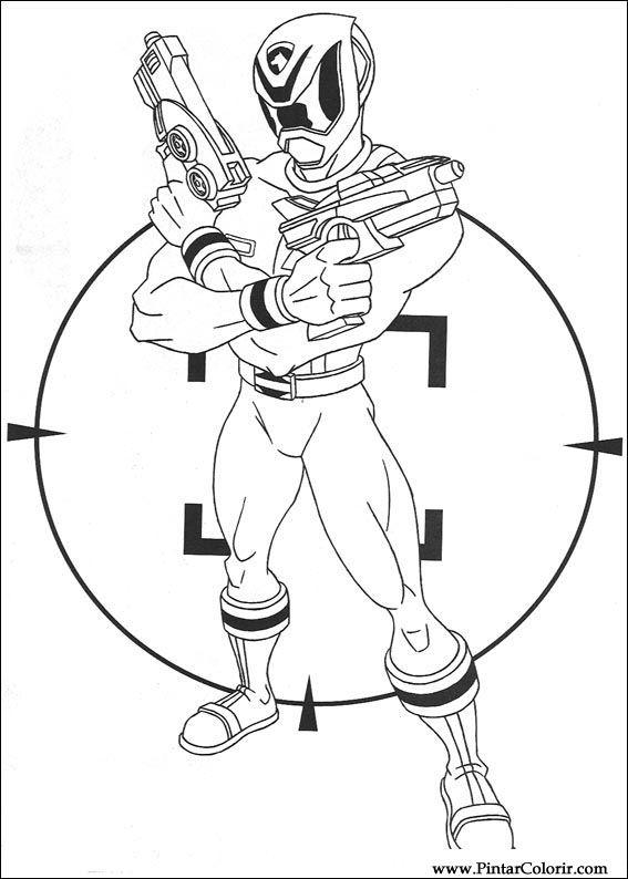 Dibujos para pintar y Color Power Rangers - Diseño de impresión 066