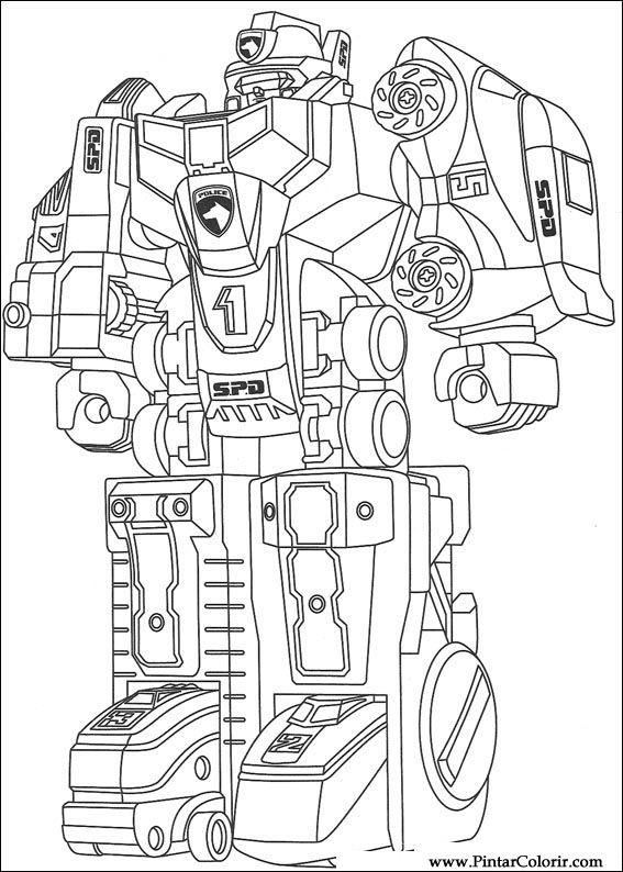 çizimler Boya Ve Renk Power Rangers Için Baskı Tasarım 070