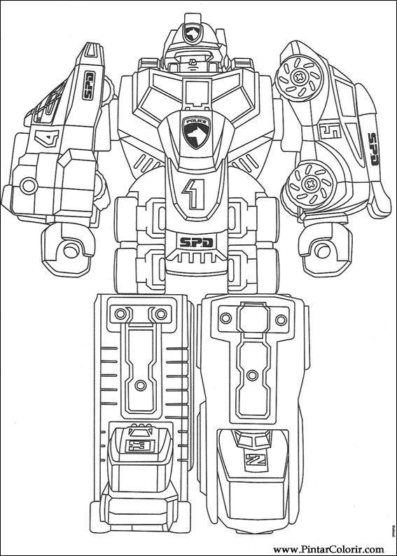 çizimler Boya Ve Renk Power Rangers Için Baskı Tasarım 073