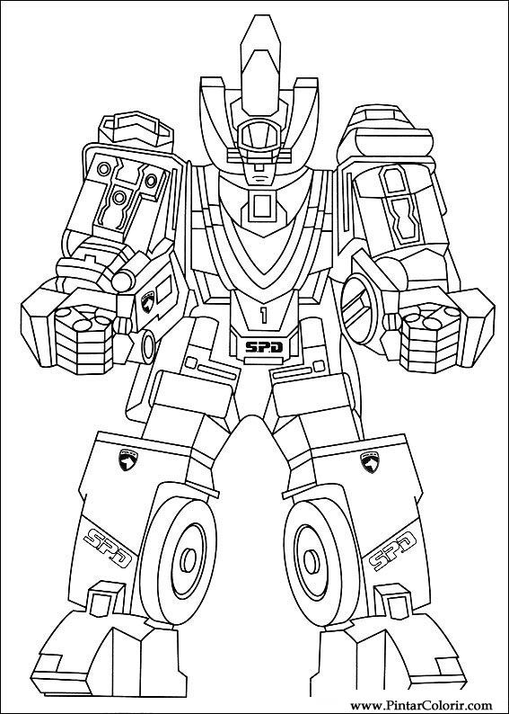 Drawings To Paint & Colour Power Rangers - Print Design 088