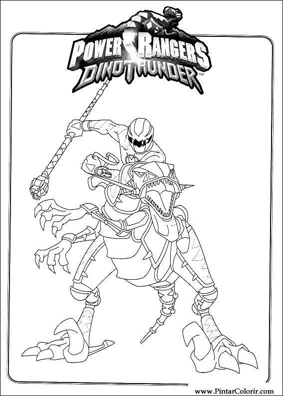 Desenhos Para Pintar E Colorir Power Rangers Imprimir Desenho 091