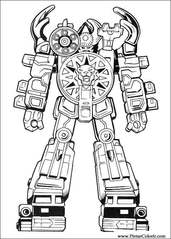 desenhos para pintar e colorir power rangers imprimir desenho 100