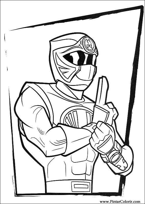 Desenhos Para Pintar E Colorir Power Rangers Imprimir Desenho 102