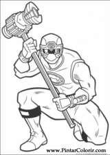 Pintar e Colorir Power Rangers - Desenho 005