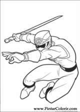 Pintar e Colorir Power Rangers - Desenho 006