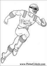 Pintar e Colorir Power Rangers - Desenho 008
