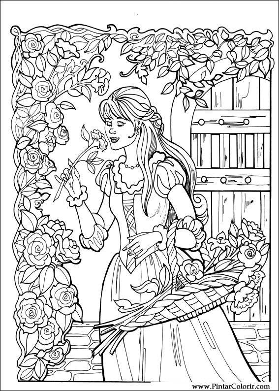 Desenhos Para Pintar E Colorir Princesa Leonora Imprimir Desenho 002