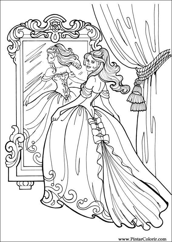 Zeichnungen Zu Malen Und Farbe Prinzessin Leonora Print