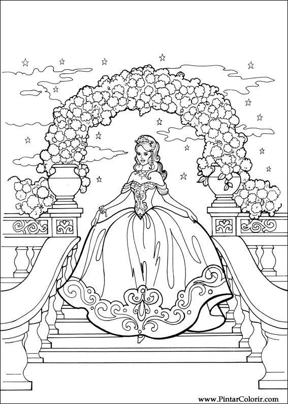 Desenhos Para Pintar E Colorir Princesa Leonora Imprimir Desenho 011