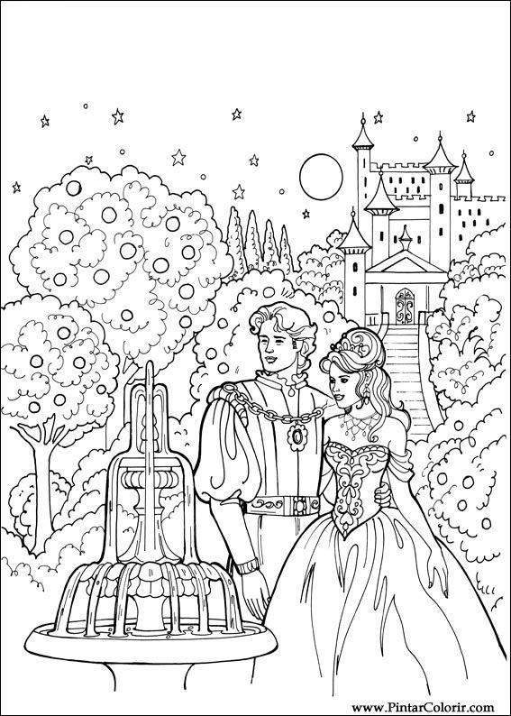 Desenhos Para Pintar E Colorir Princesa Leonora Imprimir Desenho 014