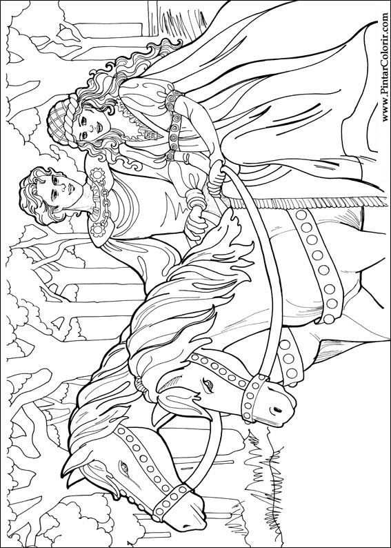 Desenhos Para Pintar E Colorir Princesa Leonora Imprimir