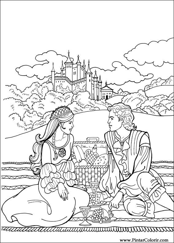 Coloriage De Princesse En Couleur.Dessins De Peindre Et Couleur Princesse Leonora Imprimer