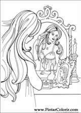 Pintar e Colorir Princesa Leonora - Desenho 001