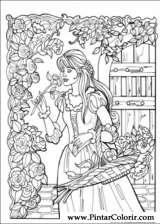 Pintar e Colorir Princesa Leonora - Desenho 002