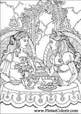 Pintar e Colorir Princesa Leonora - Desenho 004
