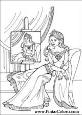Pintar e Colorir Princesa Leonora - Desenho 007