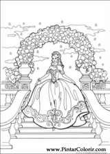 Pintar e Colorir Princesa Leonora - Desenho 011