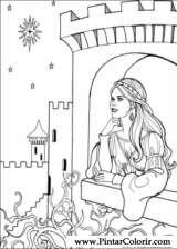 Pintar e Colorir Princesa Leonora - Desenho 015