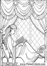 Pintar e Colorir Princesa Leonora - Desenho 017