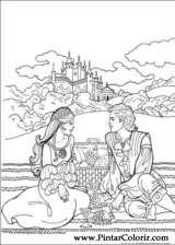 Pintar e Colorir Princesa Leonora - Desenho 021