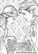 Pintar e Colorir Princesa Leonora - Desenho 022