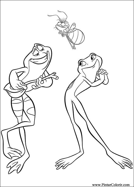 çizimler Boya Ve Renk Prenses Kurbağa Için Baskı Tasarım 003