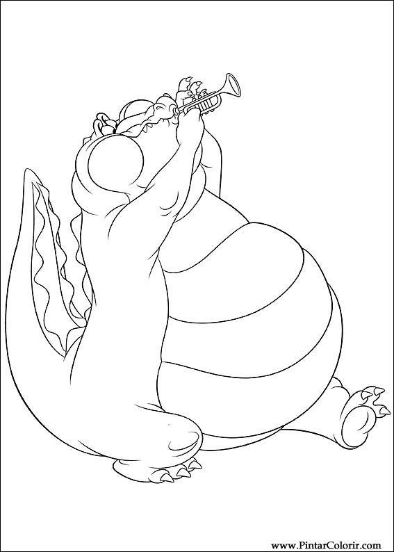 Dibujos para pintar y Color princesa rana - Diseño de impresión 007