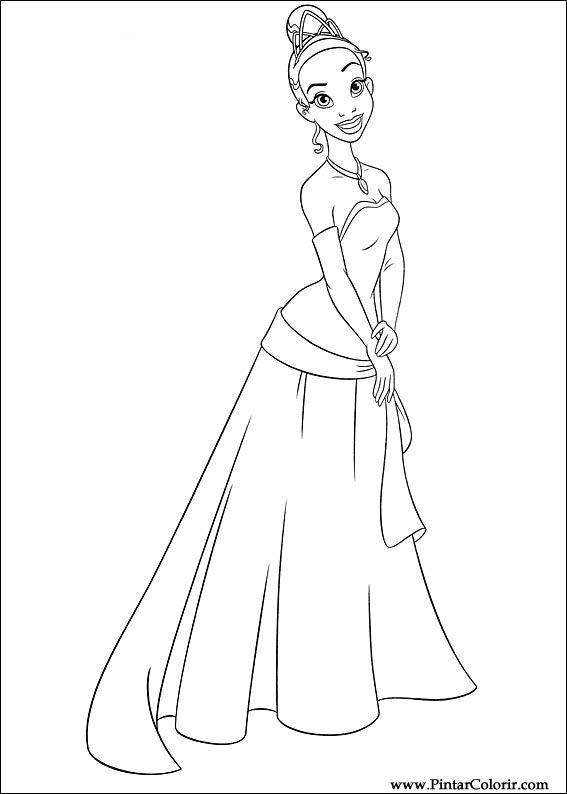 çizimler Boya Ve Renk Prenses Kurbağa Için Baskı Tasarım 009