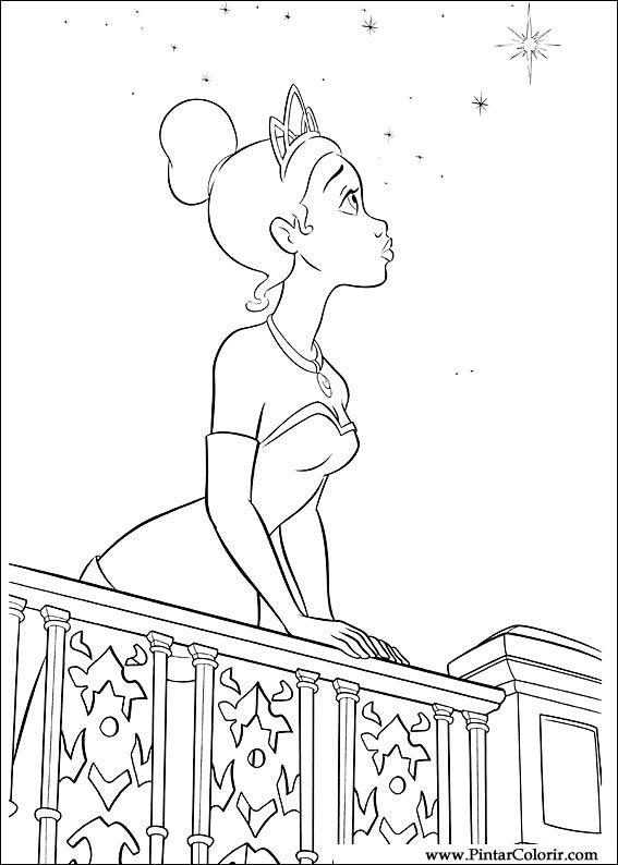 Dibujos Para Pintar Y Color Princesa Rana Diseño De Impresión 029