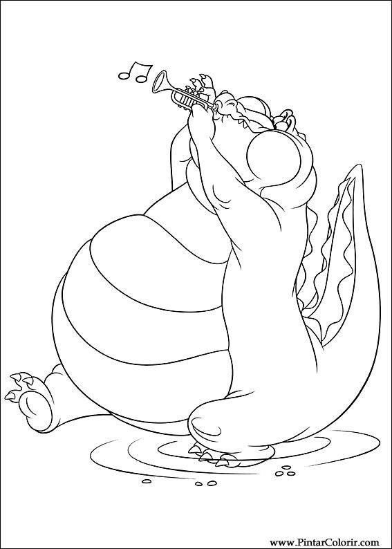 Tekeningen Te Schilderen Kleur Prinses Kikker Print