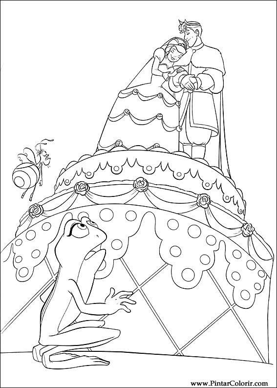 çizimler Boya Ve Renk Prenses Kurbağa Için Baskı Tasarım 052