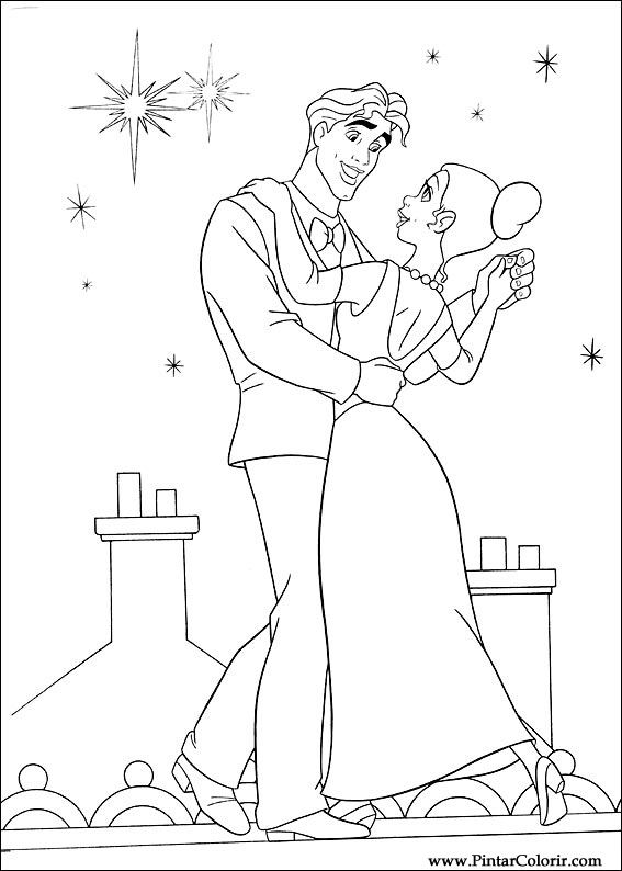çizimler Boya Ve Renk Prenses Kurbağa Için Baskı Tasarım 063
