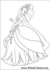 Pintar e Colorir Princesa Sapo - Desenho 004