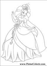 Pintar e Colorir Princesa Sapo - Desenho 005
