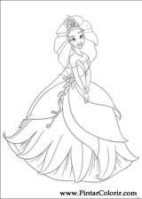 Pintar e Colorir Princesa Sapo - Desenho 014