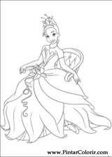 Pintar e Colorir Princesa Sapo - Desenho 016