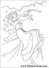 Pintar e Colorir Princesa Sapo - Desenho 027