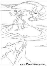 Pintar e Colorir Princesa Sapo - Desenho 037