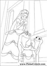 Pintar e Colorir Princesa Sapo - Desenho 056